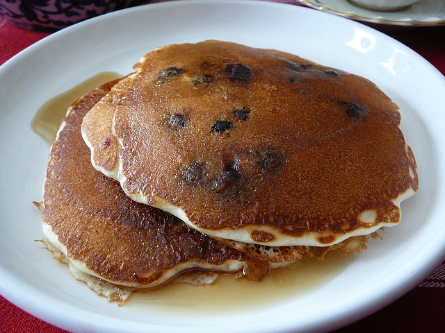 Blueberry pancakes. By jpwbee via flickr.